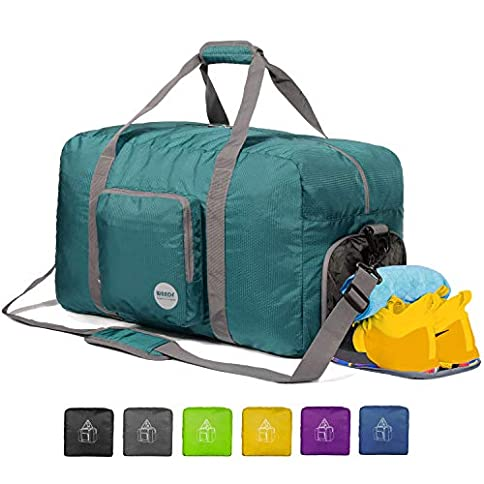 "wandf 16"" ~ 32"" foldable duffle bag for travel gym sports lightweight luggage duffel 10 color choices - 41E29ftxu3L - WANDF 16″ ~ 32″ Foldable Duffle Bag for Travel Gym Sports Lightweight Luggage Duffel 10 Color Choices"