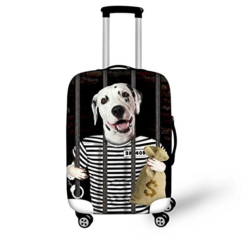 Dbtxwd 3D Polyester Suitcase Protective Cover Cute Wear-resisting - Home Basics Trunk Organizer