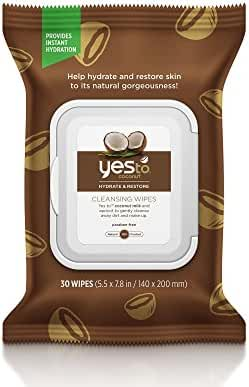Yes To Coconut Cleansing Wipes, Brown, 30 Count