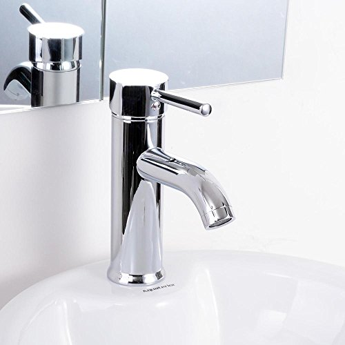 "Yescom 7"" Single Handle Vessel Sink Chrome Bathroom Basin Tu"