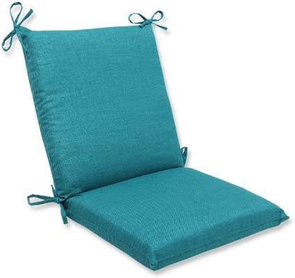 Pillow Perfect Outdoor Indoor Rave Teal Square Corner Chair Cushion, 36.5 x 18 , Green