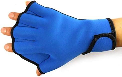 ZYR TSAKJ 1 Pair Water Aerobics Aqua Jogger Swimming Swim Surfing Diving Webbed Neoprene Paddle Gloves Blue (Size : L)