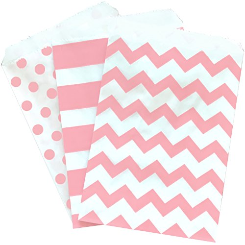 blush pink white treat sacks