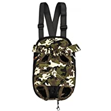 Kuoser Pet Travel Bags Dogs cats Legs Out Front Carriers Hands-free Adjustable Portable Outdoor Pet Backpack Carrier for Walking, Hiking, Bike and Motorcycle for 0-23 Lb dogs,Camouflage XL