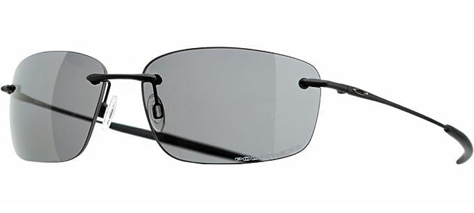 4e8f9ee3b5 Oakley Men s Nanowire 1.0 Polarized Sunglasses (Matte Black Frame Grey  Polarized Lens)