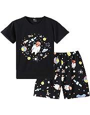 MyFav Big Boys Pajamas 2 Piece Short PJS Cute Cartoon Shark Sleepwear 6-14 Years