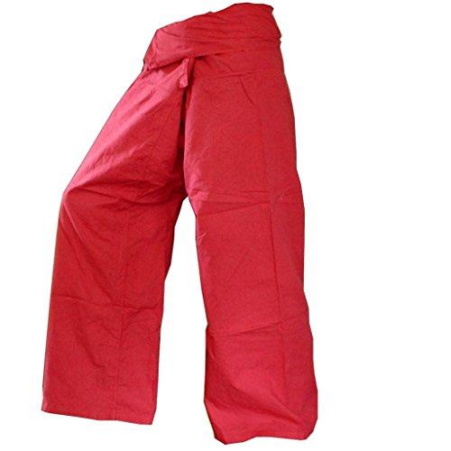 PANASIAM - Pantalón - Corte amplio - para mujer Rojo