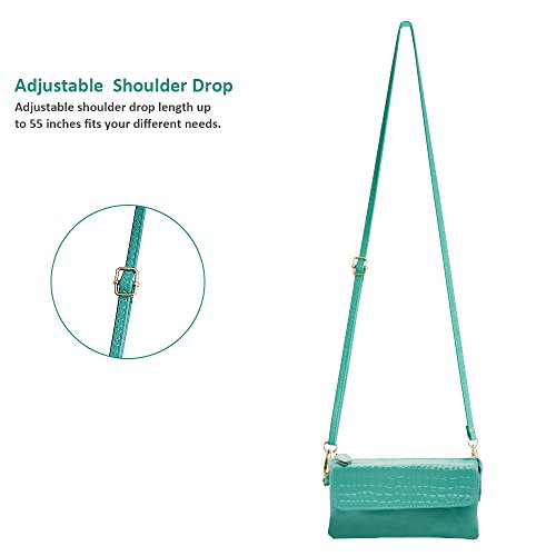 Crossbody Wallet Strap Card with Leather Smartphone Strap Shoulder Befen Clutch Slots Wrist Wristlet Mint XvIwxa6