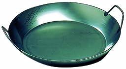Matfer Bourgeat 062052 Black Steel Paella Pan, 15-3/4 In. Diameter