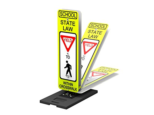 Impact Traffic - School Crossing Guard Sign Kit, Yield, with Portable Base