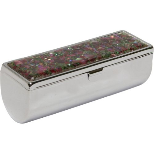 Budd Leather Mother of Pearl Single Lipstick Holder, 0.3 Pou