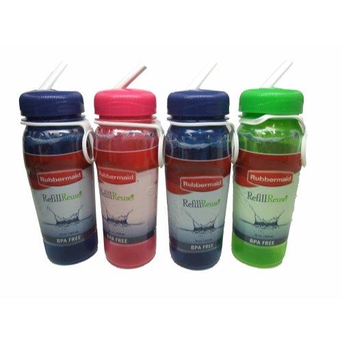 (Rubbermaid Refill Reuse Premium Sip-top Bottles, BPA Free, 20 Oz (Pack of 4))