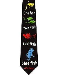 Red Fish Blue Fish Dr Seuss Licensed Reversible Novelty Necktie