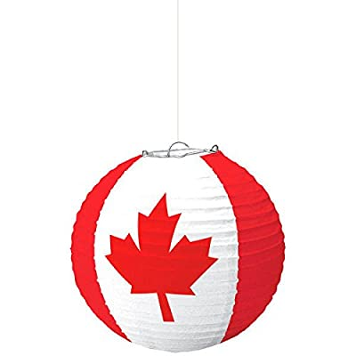 "Amscan 241763 Party Supplies Canada Day Paper Lantern, 9 3/4"", Clear: Toys & Games"
