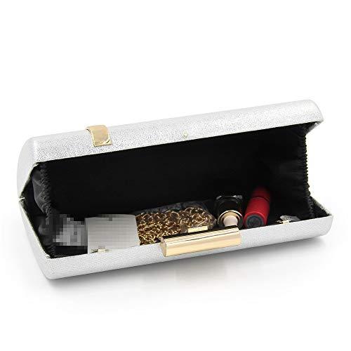 Argento Con Pochette colore Free Donna Dimensione Borsette Gscshoe Size Cocktail Oro Da Frizione C7Sg6wwqWx