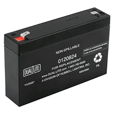 Dual-Lite 0120824 Approved 6-volt 7-7.2Ah 3.4-Amp for 90-Minute New SLA Battery