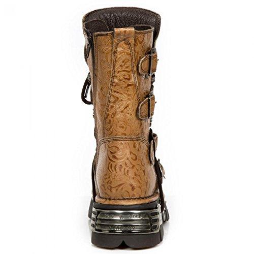 New Rock Boots M.373-r230 Gotico Hardrock Punk Unisex Stiefel Arancione