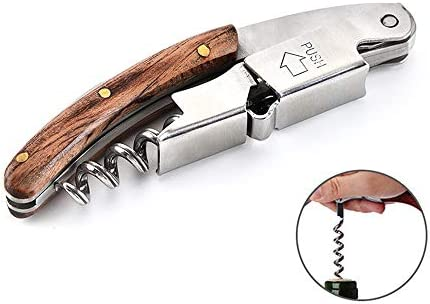 whbage Sacacorchos 1pc Bottle Opener Waiters Corkscrew Wine Bottle Opener All-in-One Random Color