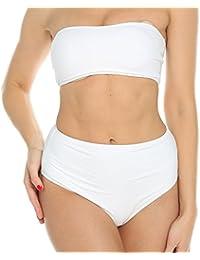 Sexy Womens Bandeau Push Up Padded Bikini Set High Waist Swimsuit Swimwear Bathing Hot