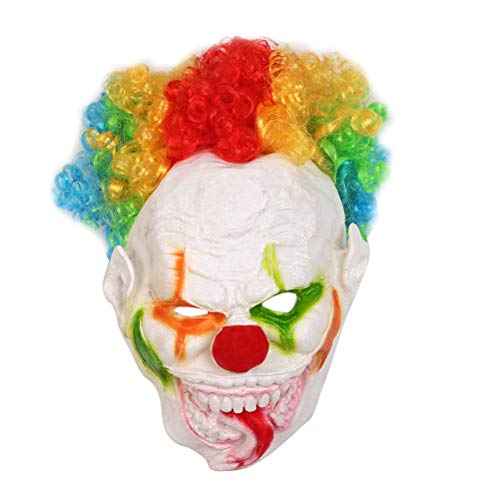 FUNZZY Halloween Clown Cosplay Mask Horror Smiley Clown Face Mask Costume Accessory -