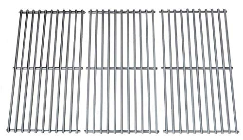 (Hongso SCH763 Stainless Steel Wire Cooking Grid Replacement for Select Gas Grill Models by Charbroil, Kenmore and Others, Set of 3)