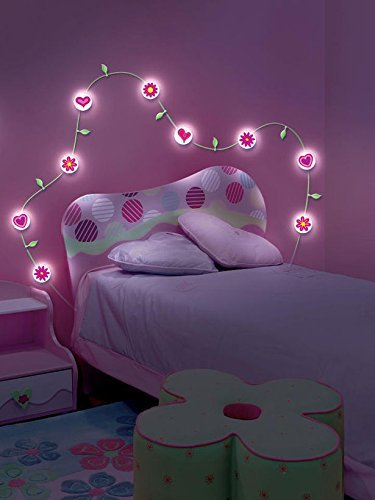 Light Vines Wall Decor - Hearts & (Flower Wall Light)