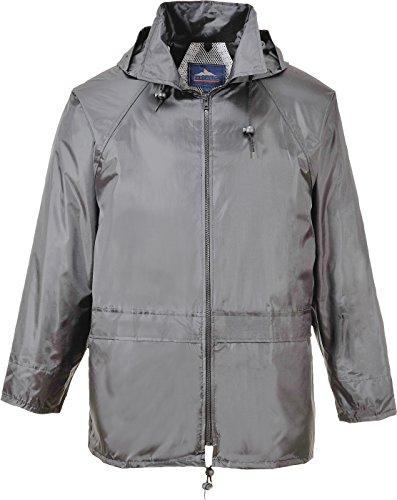 Portwest Men's Classic Rain Jacket (XL, Grey) ()