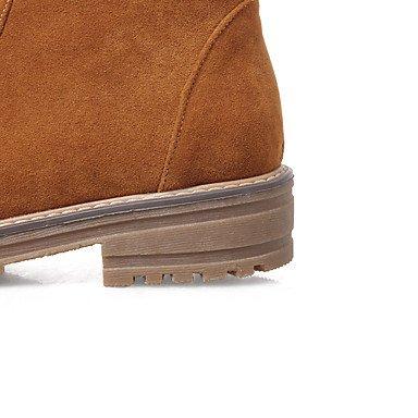 Deutsches Elektronen-Synchrotron Damen Stiefel Snow Boots Fashion Stiefel Bootie-Fall Winter Kunstleder Casual Kleid Reißverschluss geschoben Ferse Armee Grün Gelb Schwarz 1-3/4Zoll