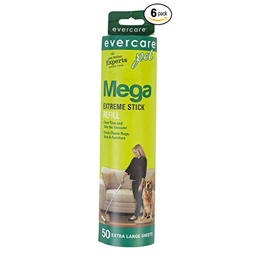 Evercare Pet Mega Roller 50-Layer Refill, Pack of 6
