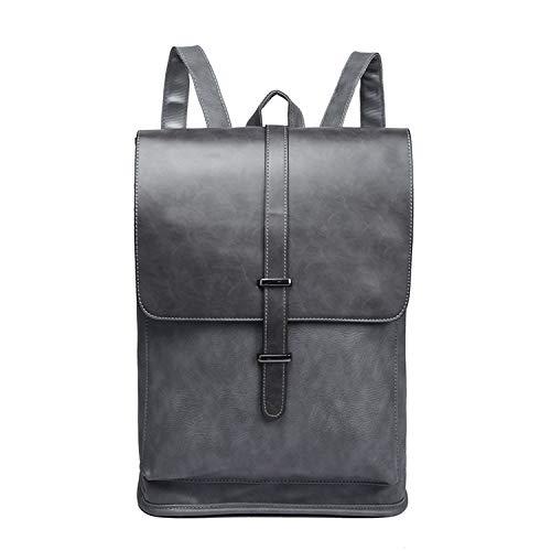Men Backpacks Vintage Leather Male Laptop Backpack Business Travel School Bag for College Casual Daypack,Gray - Jacquard Pet Carrier