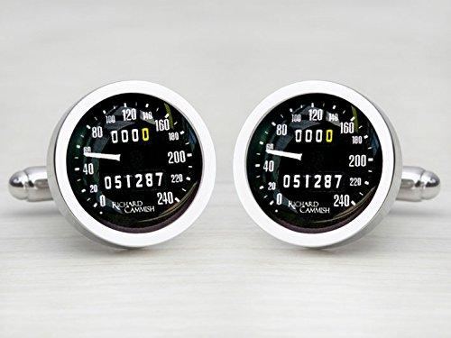 Car Speedometer Personalised Cufflinks