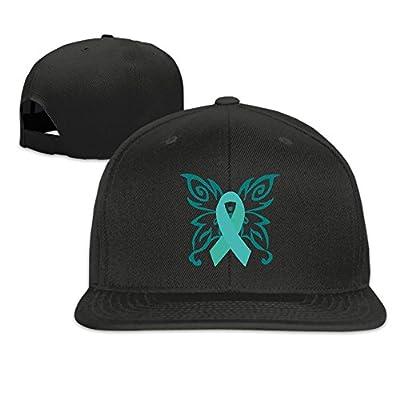 Sexual Assault Awareness Ribbon Butterfly Plain Adjustable Snapback Hats Men's Women's Baseball Caps