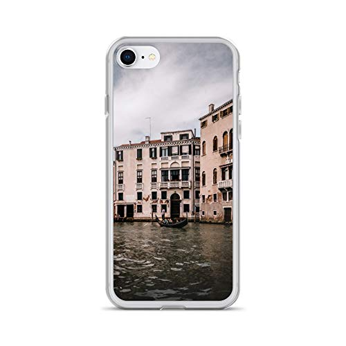 iPhone 7/8 Case Anti-Scratch Motion Picture Transparent Cases Cover Venetian Architecture Movies Video Film Crystal Clear