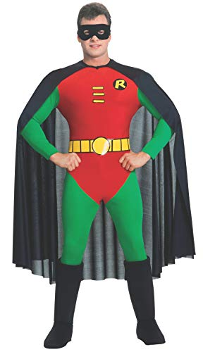 Grand Heritage Robin 1966 Halloween Costumes - Rubie's Classic Batman Deluxe Robin, Red/Green,