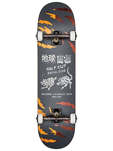 GLOBE Skateboards G2 Cut Club Street Complete, Black/Makatza by GLOBE Skateboards