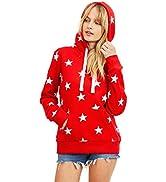 esstive Women's Ultra Soft Fleece Comfortable Lightweight Casual Star Printed Active Stylish Pull...