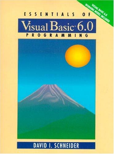 Essentials of Visual Basic 6.0 Programming: Amazon.es: Schneider ...