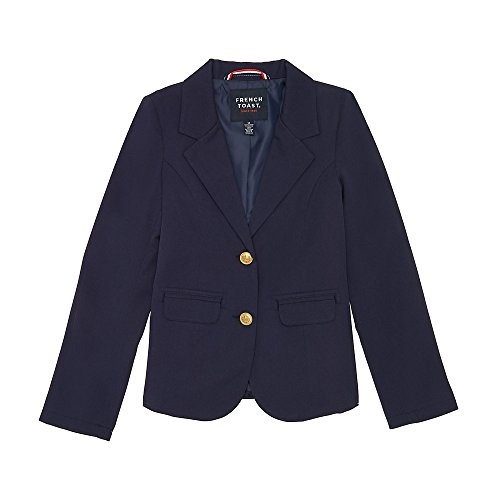 French Toast Girls' Little Classic School Blazer, Navy, 6