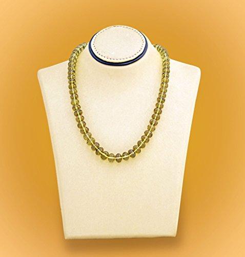 Olive Quartz Bead Necklace (Earrings Quartz Olive)