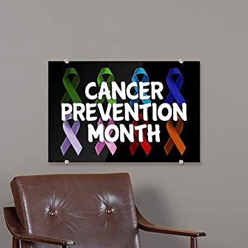 Cancer Prevention Month 5-Pack CGSignLab 27x18 Multicolor Premium Acrylic Sign
