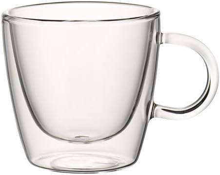 Villeroy & Boch Artesano Hot Beverages Cup : Medium-Set of 2, 3 in, Crystal Glass, Clear