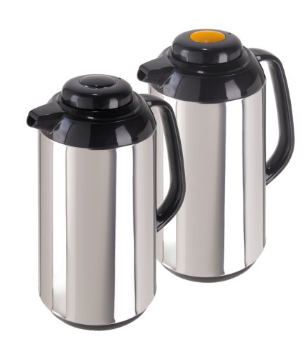 Oggi Connoisseur 2 Piece Carafe Set (Satin Finish Thermal Carafe)