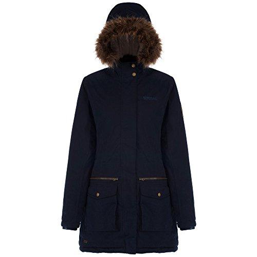 Regatta - Abrigo estilo parka impermeable modelo Snowstar para mujer Azul marino
