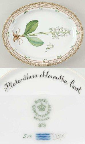 ロイヤルコペンハーゲン フローラダニカ(1961-) オーバルサービングプレート Plantanthera Chlorantha C [並行輸入品]   B00A9D5E2W