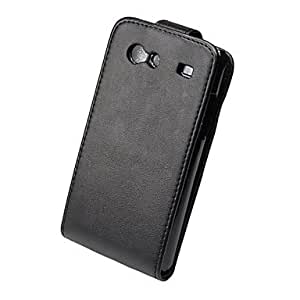 Elegant ultrathin PU Leather Flip Case Cover for Samsung Galaxy S I9070-Black --- COLOR:Black