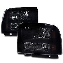 ZMAUTOPARTS Ford F-250 / F-350 / F-450 / F-550 Super Duty Crystal Style Headlights Black/Smoke