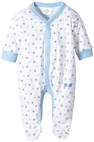 Twins Baby - Jungen Schlafstrampler mit Sternchen, All over print, Gr. 74, blau (weiss/baby blue)