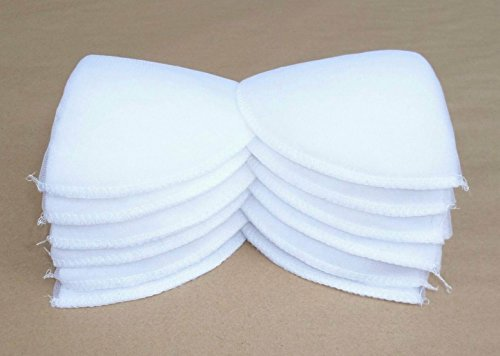 6 Pairs White Polyester Set-In Shoulder Pads
