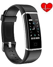 YoYoFit Fitness Armband Activity Tracker, IP67 Wasserdicht Schrittzähler Stoppuhr Herzfrequenz Kalorienzähler Schlafmonitor Kompatibel mit IOS Android 6 Farben für Damen Herren Kinder Geschenk