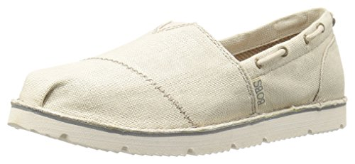 BOBS from Skechers Women's Chill Flex Hot2Trot Flat, Natural Flex, 7.5 M US